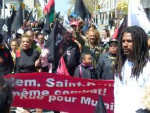 Demo für Mumias Freilassung am 26. April 2014 in Philadelphia, PA