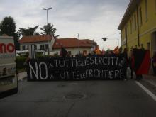 Antimilitaristische Aktion in Casella Torinese