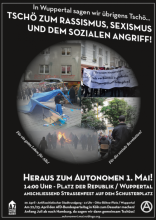 Autonomer 1. Mai 2017 in Wuppertal - Plakat
