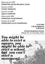 Demoplakat für den 11.01. 7:45 Uhr