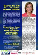 Nulltarif-Flyer in Gießen (eine Seite)