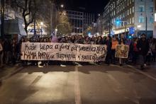 Feministische Demonstration in Athen