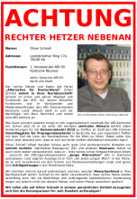 Outingplakat Oliver Schnell
