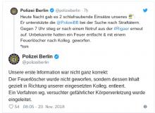 Falschmeldung Twitter Polizei Berlin
