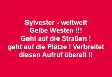 Sylvester Berlin Gelbe Westen