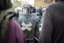 Symbolbild: Polizei bei der Lorien Räumung 2018