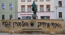 Fight Erdogan Defend Rojava_ Mauer Wielandplatz