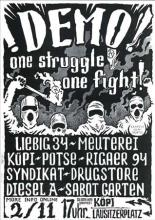 Demoposter ONE STRUGGLE - ONE FIGHT!