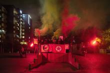 Solidarität mit der PKK in der Bochumer Hustadt