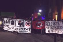 """Solifoto auf der Tanzdemo """"Bass gegen Hass"""" am 10.12.19 in Herne"""