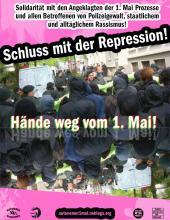 Plakat: Schluss mit der Repression – Hände weg vom 1.Mai!