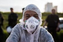 Aktivisti bei Ende Gelände (Symbolbild)