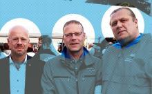 Im Bild (von links): Neonazi Andreas Kalbitz, Polizist Lars Kuppi und Gewaltstraftäter Bernd Gwiadowski.