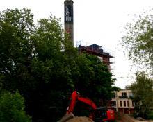 Alte Teppichfabrik - jetzt nach fast 3 Jahren eine Baustelle
