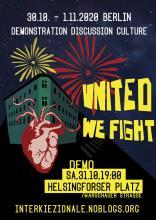 United we fight! Städtische Kämpfe verbinden – Autonome Räume verteidigen!  Aktions- und Diskussionstage in Berlin 30.10.-1.11.2020