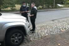 Melvin Schwede nach der Auto-Attacke in Henstedt-Ulzburg am 17. Oktober 2020
