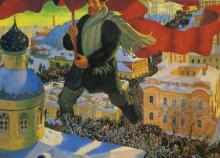 Boris Kustodijew, Der Bolschevik (1920)