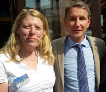 Delia Klages und Björn Höcke beim Flügel-Treffen der AfD