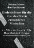 Keinen Meter den Faschisten, Gedenkdemonstration für due von den Nazis ermodeten Menschen, 11.03. | 11:00 Hbf Dessau